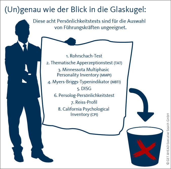 ungeeignete persoenlichkeitstests executive search